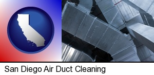 San Diego, California - air conditioning ducts